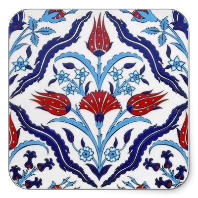 Turkish tile Square Sticker