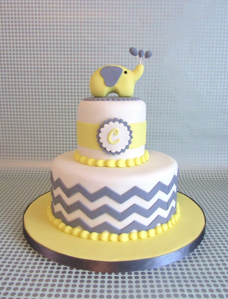 Chevron Baby Shower  on Cake Central