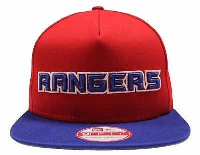 Nhl new era new york #rangers team word #9fifty snapback cap #brand new size m/l,  View more on the LINK: 	http://www.zeppy.io/product/gb/2/131962093557/