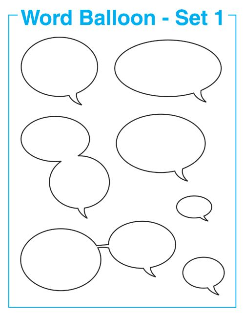 Free Comic Book Resources – Word Balloons Set 1