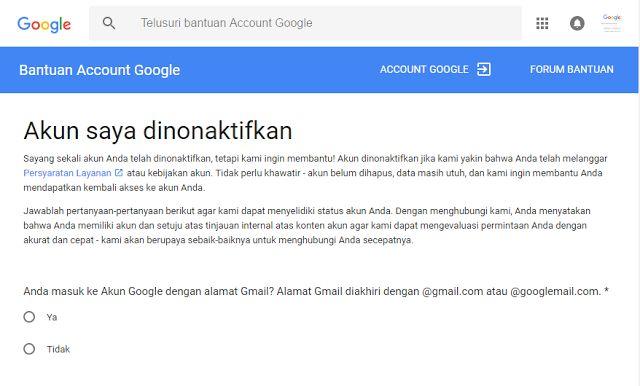 Cara Mengembalikan Akun Google (Gmail) yang di Nonaktifkan January 23 2017 at 02:28PM