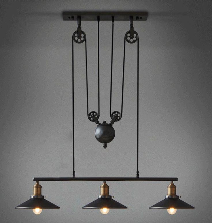Rh2 Loft Vintage Industrial Retro Iron Pulley Chandelier Pendant Lamp Bar Kitchen Home Decoration E27 Edison Bulb Light Fixtures-in Pendant Lights from Lights & Lighting on Aliexpress.com | Alibaba Group