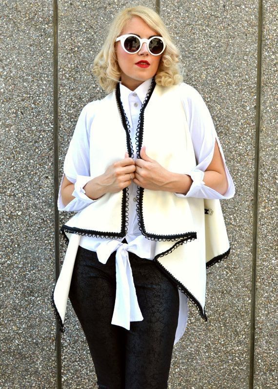 Check out this item in my Etsy shop https://www.etsy.com/listing/241911926/wool-white-vest-asymmetrical-white-vest