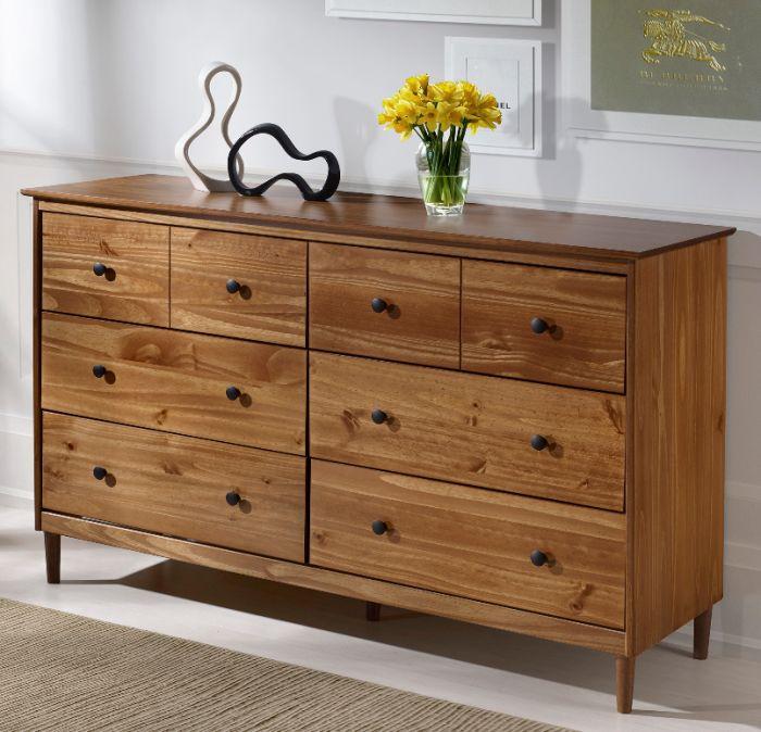 Best Classic Mid Century Modern 6 Drawer Solid Wood Dresser In 640 x 480
