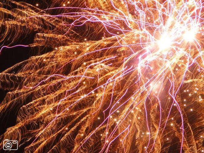 Vuurwerk op Oudejaarsavond in Nibbixwoud