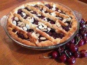 Paleo Cherry and Coconut Pie