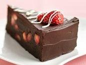 fudge lovers Strawberry truffle cake