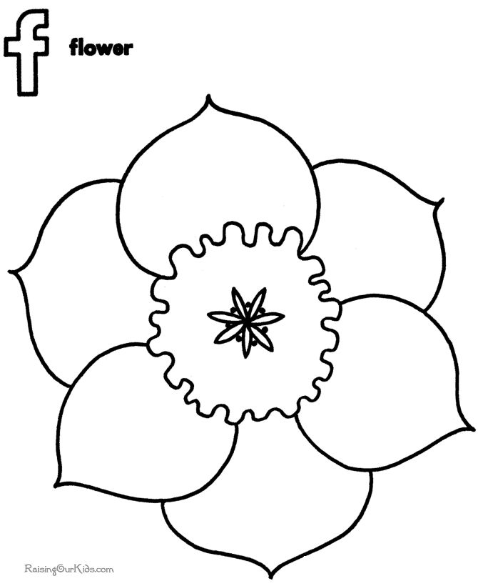 flower color pages for kids flower coloring sheets