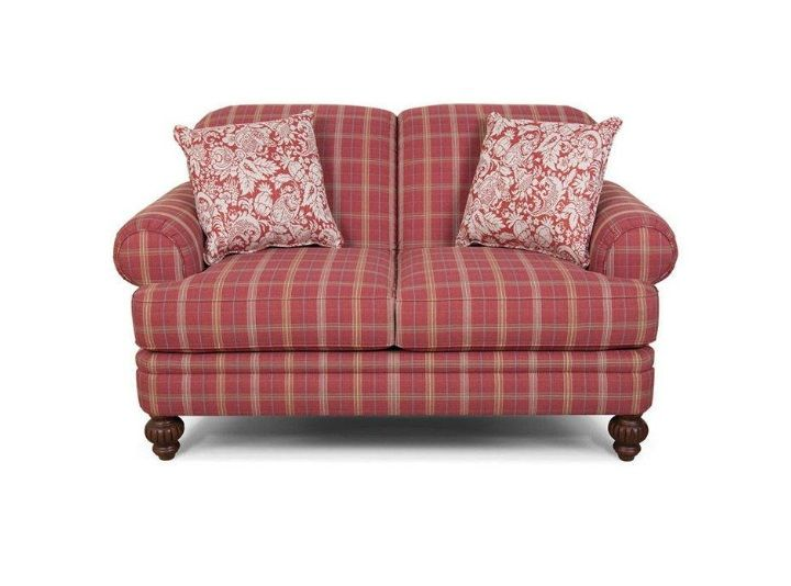 England Furniture - Covered in your choice of our many stripes and plaids,  the Bill sofa, loveseat, chair, and ottoman work together create a  welcoming ...