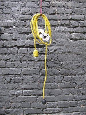 Tricotin lamp. nice idea