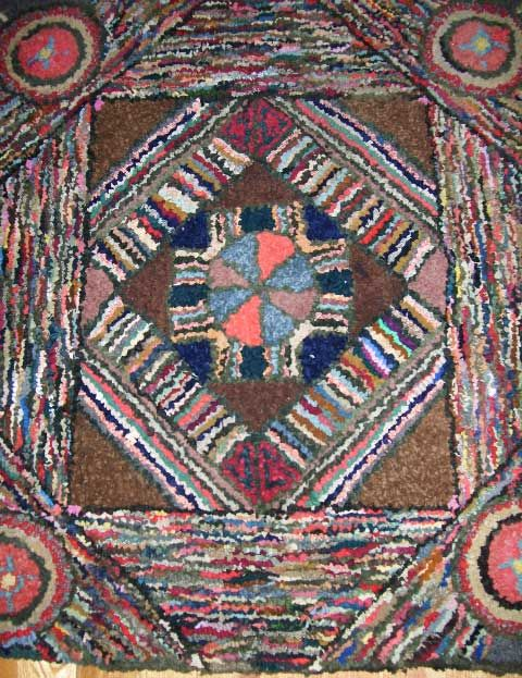 19th Century Antique Rug From Jconnerhooked Rugs