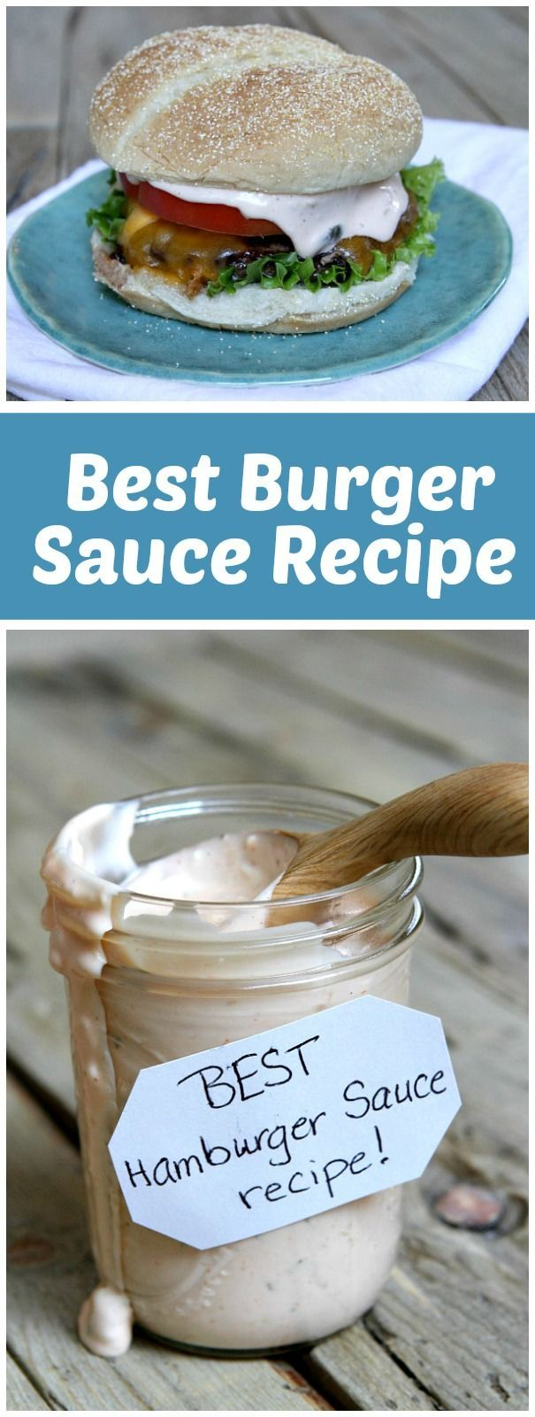 The absolute Best Burger Sauce recipe - for your home-grilled burgers!   From http://RecipeGirl.com.