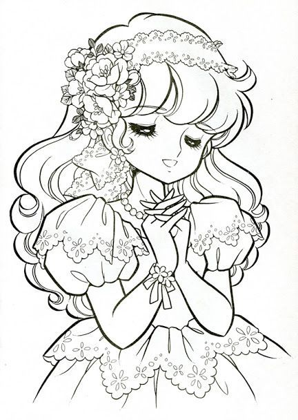 From Honey Angel Colouring Book