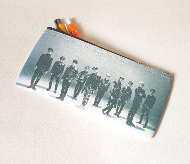 EXO SM-TOWN EXO PENCIL CASE KPOP STAR  COSMETIC BAG EXO LOGO  *NEW*