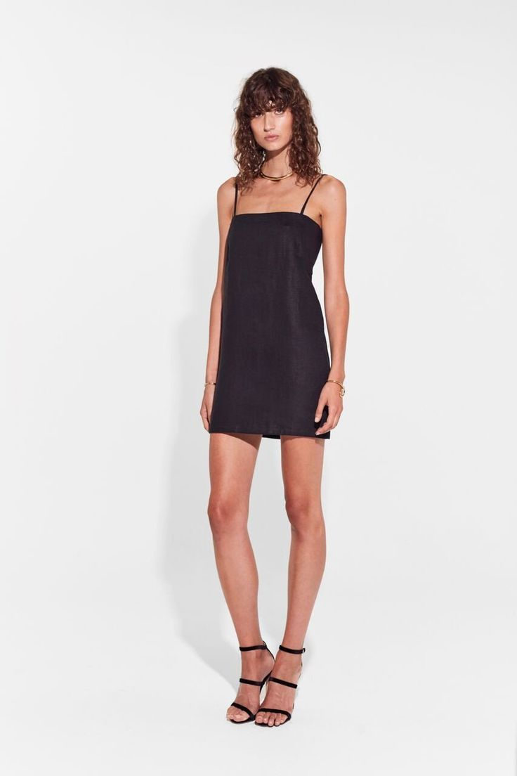 SIR the label - Gracie Double Tie Back Mini Dress Black