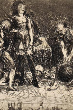 Mademoiselle Circe and her troupe by Bruno Schulz, [ca 1920-1922]. Jagiellońska Biblioteka Cyfrowa, Public Domain