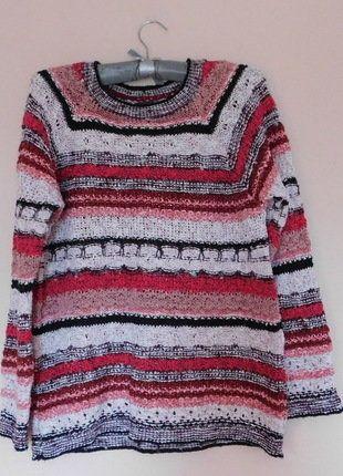 Kup mój przedmiot na #vintedpl http://www.vinted.pl/damska-odziez/swetry-z-dzianiny/17686397-per-una-sweter-czerwony-40-42