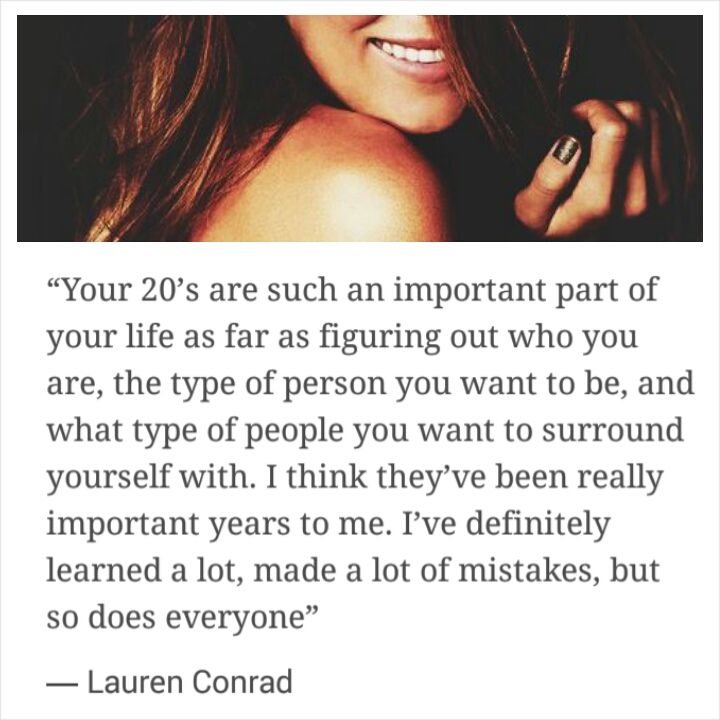 your 20's