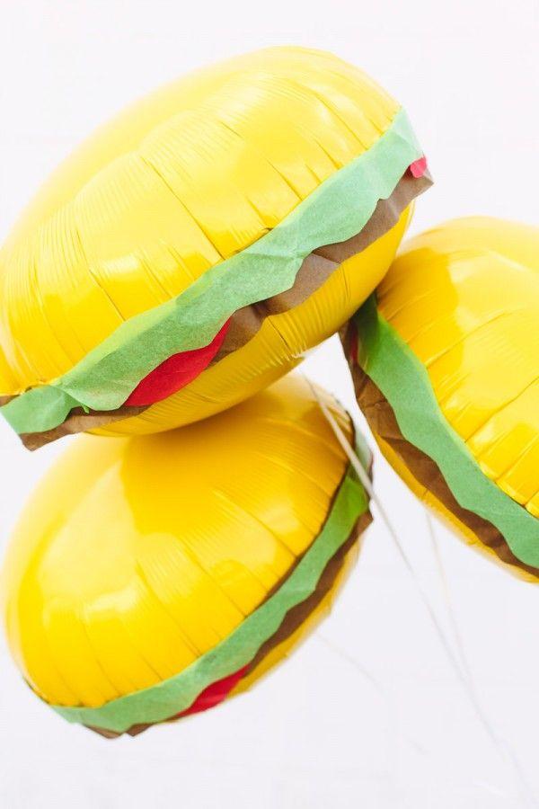 Fun! DIY Burger Balloons
