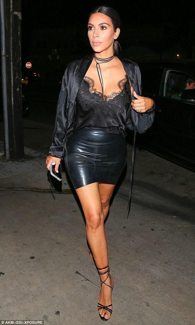 Kim Kardashian wearing Atsuko Kudo Mini Skirt