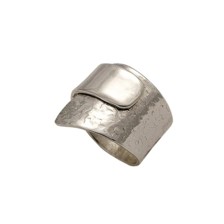 Silver wrap ring textured Ring in Sterling Silver