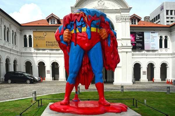 No One Can Save Us (Giant melting Superman Statue in front of Singapore Art Museum)    I need a picture of Marek in front of this lol
