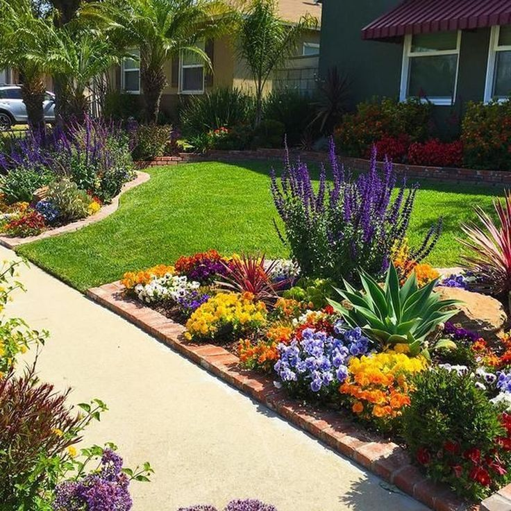 Cheap Gardening Ideas: 41 Beautiful Front Yard Landscape Flowers In Your Dream