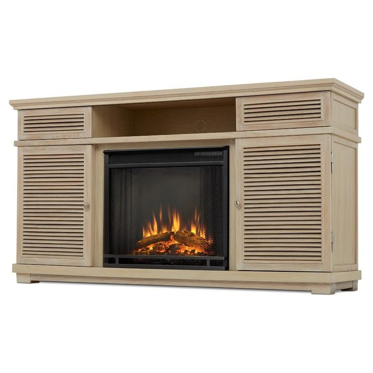 Cavallo Electric Fireplace Entertainment Center - White - Real Flame
