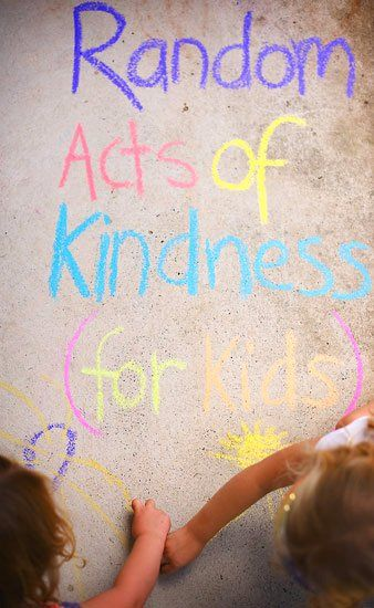 Random Acts of Kindness Ideas for Children - plus a free printable poster