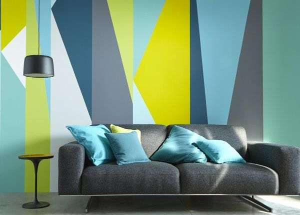 Couleur les nouvelles gammes de peinture castorama for Couleur turquoise et gris