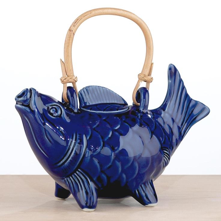 Blue Koi Fish Teapot | World Market