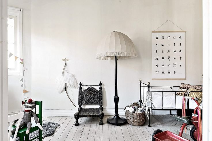Gorgeous neutral nursery - A mix of vintage and new pieces