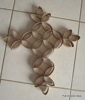 toilet paper cross