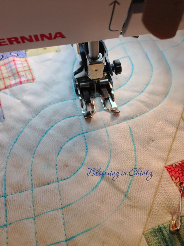 how to quilt cables with a walking foot : bloominginchintz.blogspot.com