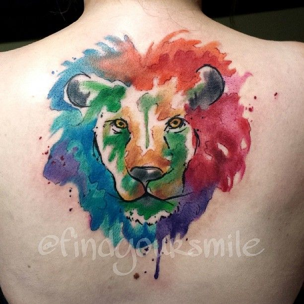 Colorful Lion Tattoo Tattoo Tattooed Tattoos: Water Color Tattoo For The Leo Within