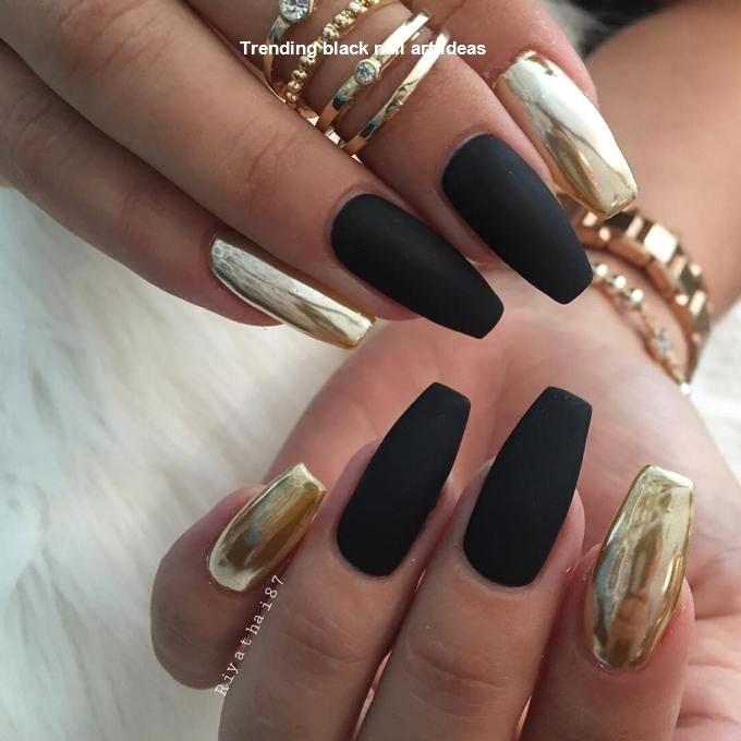 20 Simple Black Nail Art Design Ideas #blacknails
