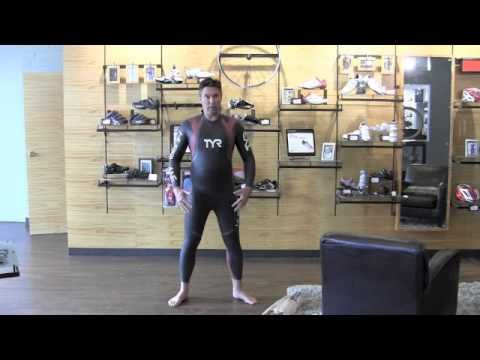 How to put on and remove a triathlon wetsuit - YouTube