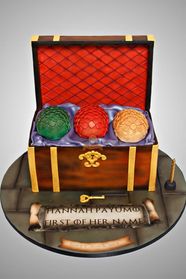 Game of Thrones Dragon Eggs Chest - Cake by The Sweetery - by Diana