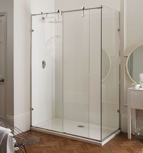 Majestic frameless sliding shower door