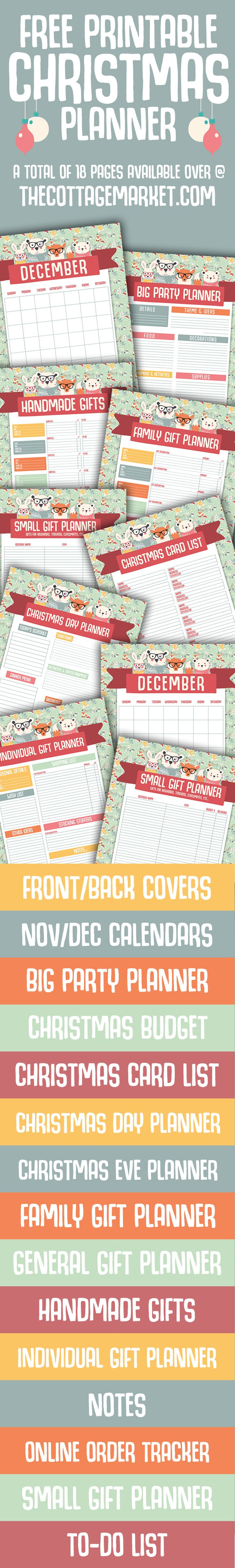Free Holiday Planner! 18 Pages of Organization to help you through the busy time!