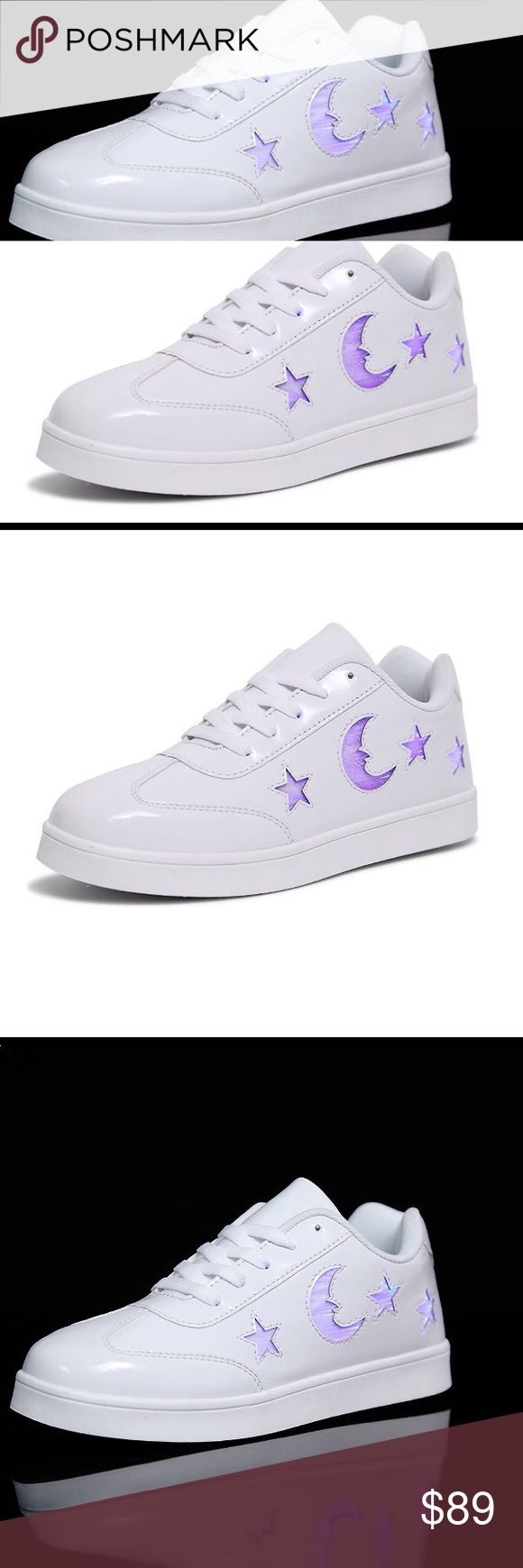 LED Light Up Shoes for little kid 2.5 m pnk/purp PRICE FIRM !KIDS WILL LOVE ! New in box white and purple  LED Light Up Shoes for little kid 2.5 m little kid with USB Charging Flashing Luminous Casual Sneakers ny Husksware. Retail price $129.00Fully charge both shoes in 2-3 hoursNo complicated wiring, no short circuits, just impressive luminous steps for up to 9 hours! CHARGING CABLE and the REMOTE CONTROL come with  Gently scrub dirt and dust off the surface and avoid immersing in water to…