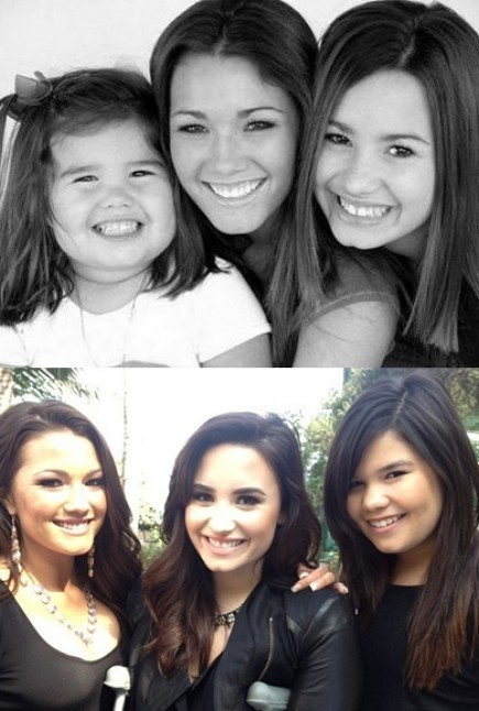 then amp now demi lovato and her sisters dallas and madison