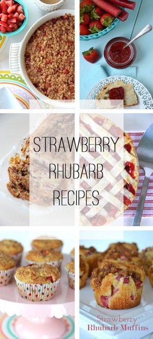 Strawberry Rhubarb Recipes  {A Pretty Life)_edited-1