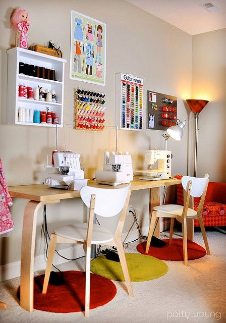 Georgeous  sewing studio, by Patty Young / modkid