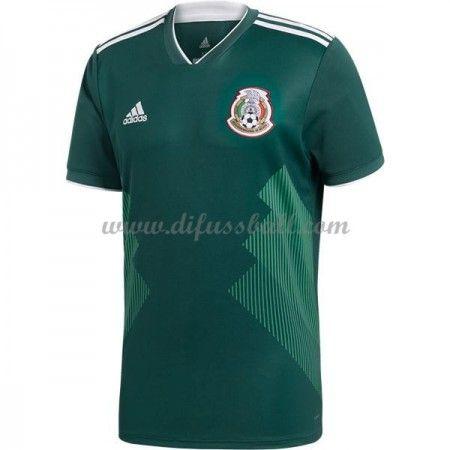 Günstige Fußballtrikots Mexiko Trikot nationalmannschaft WM 2018 Heimtrikot Kurzarm