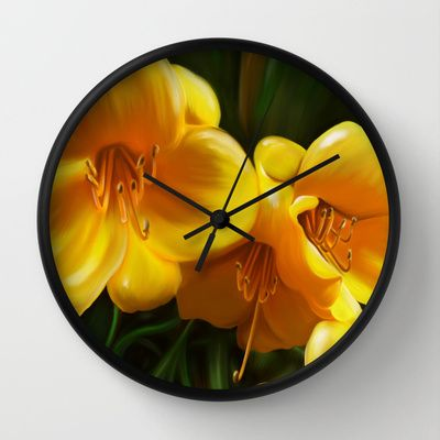 I+dream+of+yellow+Wall+Clock+by+Mario+Laliberte+-+$30.00.  Wall clock with my art on it!