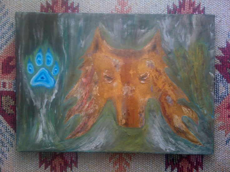 Mermer tozu-Yağlı boya-Kurt..Marble powder-Oil paint-Wolf..-Bursa