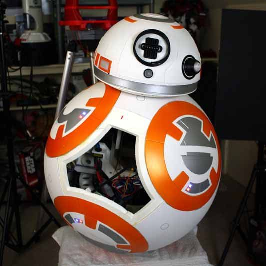 [James Bruton] has just finished and posted the designs for his very impressive BB-8 robot build. We covered the start of his adventures some time ago when we were theorizing about the secret in th...