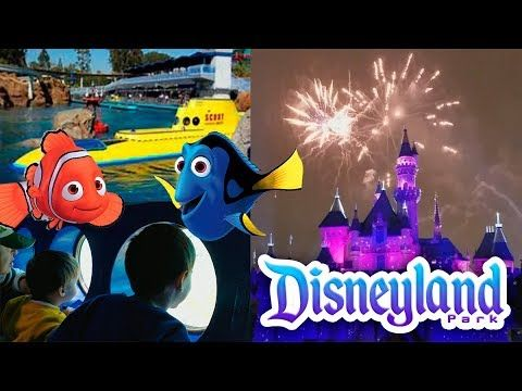 DISNEYLAND CALIFORNIA FINDING NEMO Submarine Voyage video for KIDS Pixar