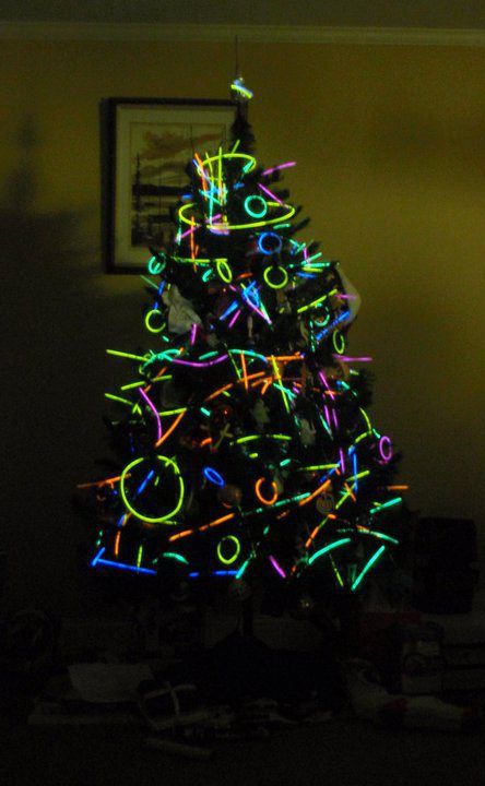 Glow Stick Christmas Tree! http://glowproducts.com/glowsticks #GlowSticks